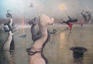 Painting, Surrealism - Fishermans dream