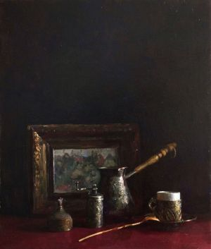 Painting, Still life -  Breakfast of the artist. Dedicated to I.E. Repin