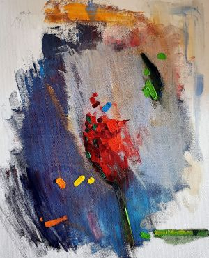 Painting, Abstractionism - Roza