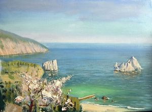 Painting, Seascape - Spring in Gurzuf