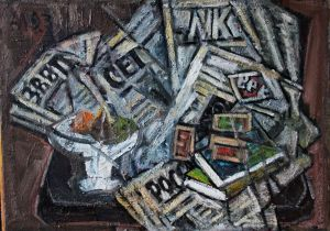 Painting, Still life - Newspapers