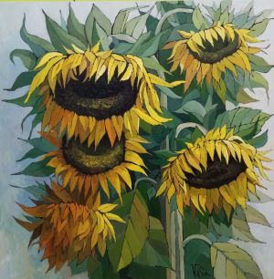 Painting, Still life - Sunflowers