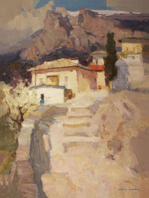 Painting, Impressionism - Spring in Crimea
