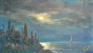 Painting, Seascape - Crimean night