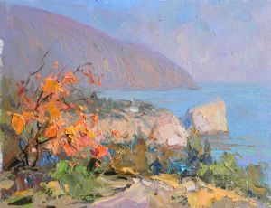 Painting, Seascape - Shaliapin rock