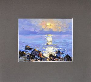 Painting, Seascape - Moonlight