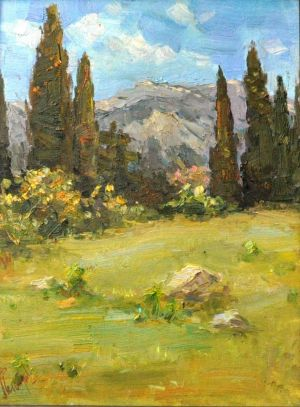 Painting, Landscape - Summer in Hurzuf