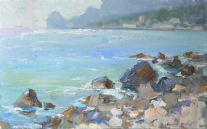 Painting, Seascape - The stones of Alupka