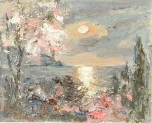 Painting, Seascape - Spring morning