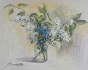 Graphics, Still life - Cherry blossom bouquet