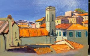 Painting, Landscape - On the roofs of Portoferraio