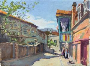 Painting, Landscape - Side street