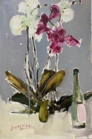 Painting, Realism - Orchids not for girls