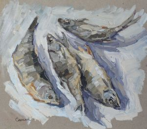 Painting, Realism - Fishes
