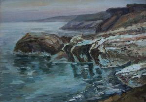 Painting, Seascape - Cyprus Coast. Governors Beach.