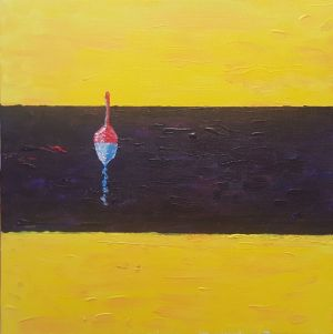 Painting, Minimalism - Fishing in Spain