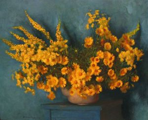 Painting, Realism - Still life with elecampane