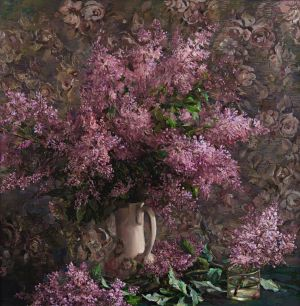 Painting, Realism - Lilac