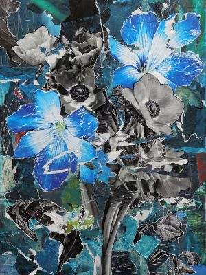 Painting, Romanticism - Blue flowers
