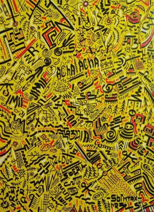 Graphics, Figurative painting - Yellow matrix