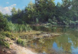 Painting, Landscape - By the pond
