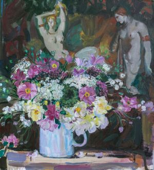 Painting, Still life - Still life with flowers