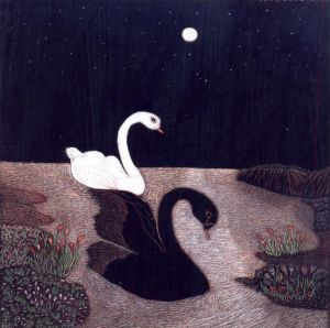 Graphics, Romanticism - Swans