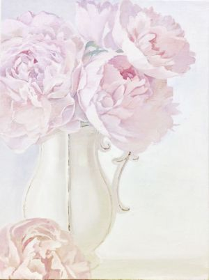 Painting, Still life - «Peonies. Morning»
