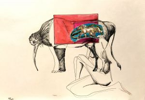 Graphics, Surrealism - To be animal