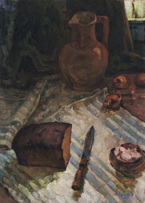 Painting, Realism - Kitchen still life